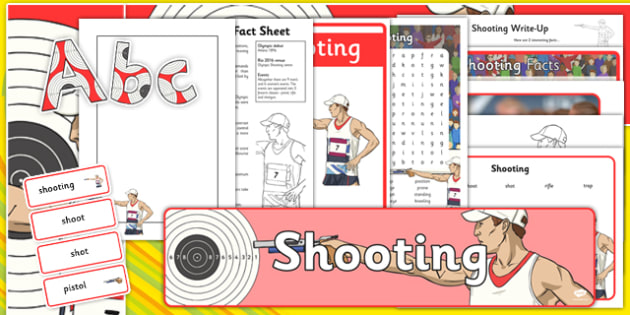 The Olympics Shooting Resource Pack - Shooting, Olympics, Olympic Games, sports, Olympic, London, 2012, resource pack, pack resources, activity, Olympic torch, events, flag, countries, medal, Olympic Rings, mascots, flame, compete