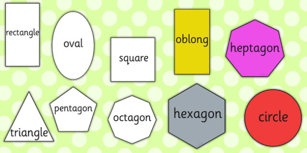 A4 2D Shape Cut Outs Words - 2d, shape, cut outs, words, word