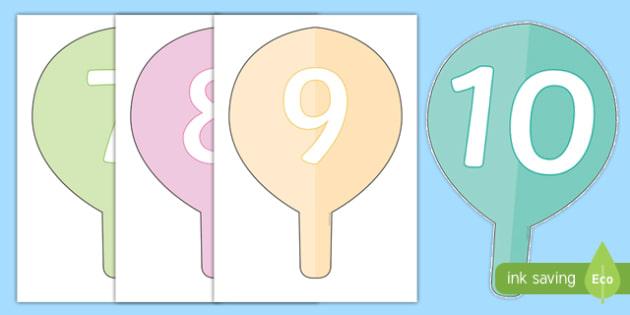 Score Paddles Flashcards