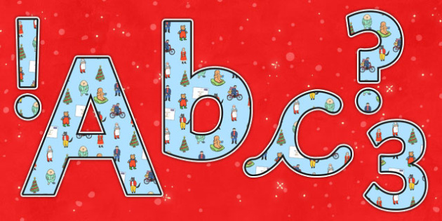 Lowercase Display Lettering to Support Teaching on The Jolly Christmas Postman - the jolly christmas postman, display lettering, display letters, lettering, lettering for display