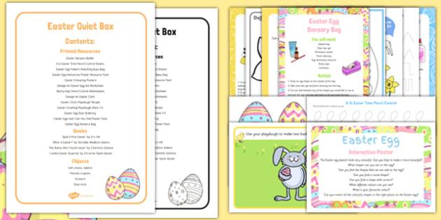 Easter Quiet Box - easter, activities, eyfs, quiet box, quiet, box