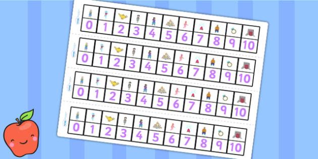 Aladdin Number Track 0 10 - aladdin, numbertrack, 0-10, visual