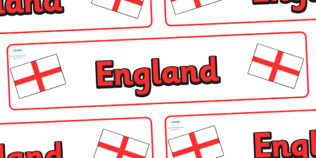 England Display Banner - England, Olympics, Olympic Games, sports, Olympic, London, 2012, display, banner, sign, poster, activity, Olympic torch, flag, countries, medal, Olympic Rings, mascots, flame, compete, events, tennis, athlete, swimming