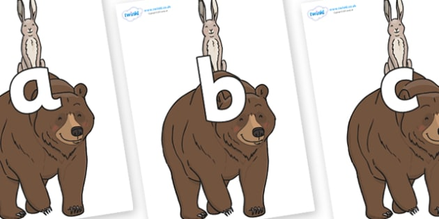 Phoneme Set on Bear and the Hare - Phoneme set, phonemes, phoneme, Letters and Sounds, DfES, display, Phase 1, Phase 2, Phase 3, Phase 5, Foundation, Literacy