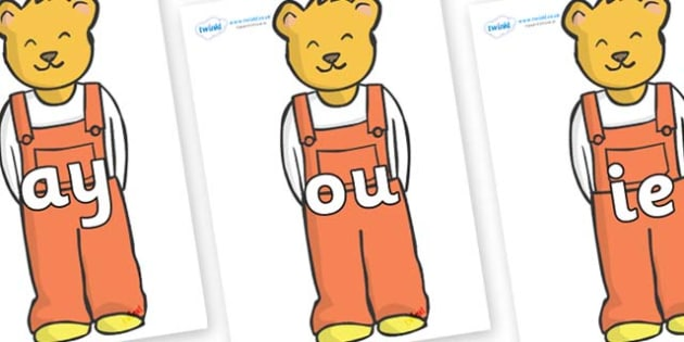 Phase 5 Phonemes on Bears (Whatever Next) to Support Teaching on Whatever Next! - Phonemes, phoneme, Phase 5, Phase five, Foundation, Literacy, Letters and Sounds, DfES, display