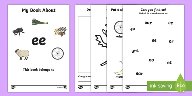 My Phase 3 Digraph Workbook (ee) - Digraph Formation, Phase 3, phase three, digraphs, handwriting, letter formation, writing practice, foundation, letters, writing, learning to write, DFES letters and sounds