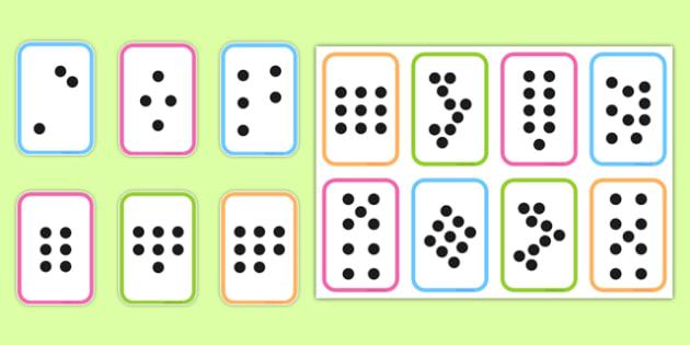 Subitising Cards 1-9 - subitising cards, 1-9, recognising numbers, numbers, recognise, subitising