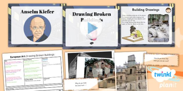 Art: European Art: Drawing Broken Buildings LKS2 Lesson Pack 1