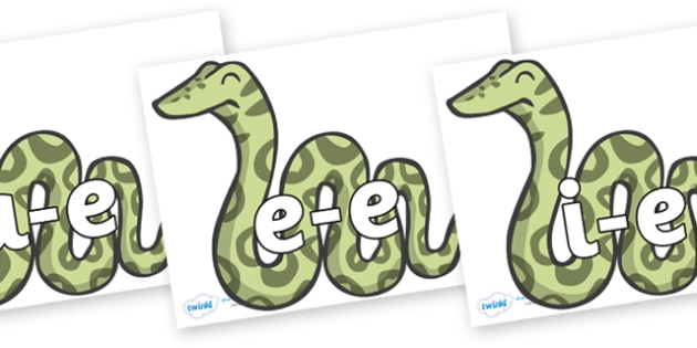 Split Digraphs on Snakes - Modifying E, letters, modify, Phase 5, Phase five, alternative spellings for phonemes, DfES letters and Sounds