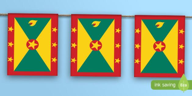 Grenada Flag Bunting - grenada, flag, bunting, display bunting, grenada flag
