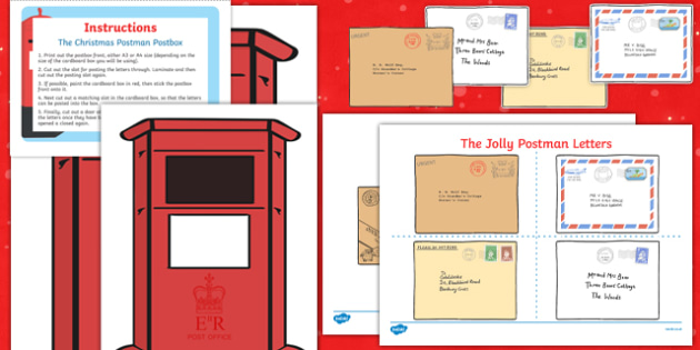 Post Box and Christmas Cards Resource Pack to Support Teaching on The Jolly Christmas Postman