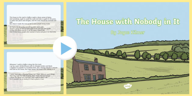 The House with Nobody in It Poem PowerPoint