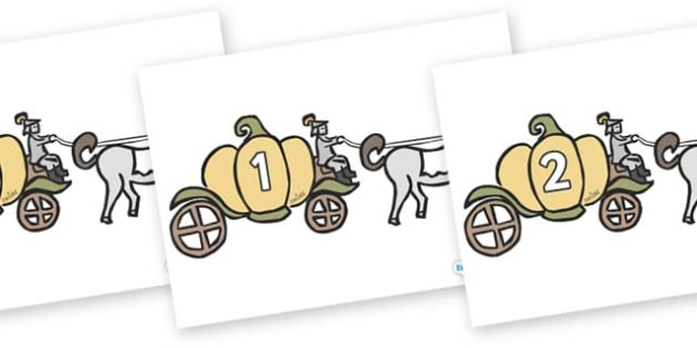Numbers 0-50 on Carriages - 0-50, foundation stage numeracy, Number recognition, Number flashcards, counting, number frieze, Display numbers, number posters