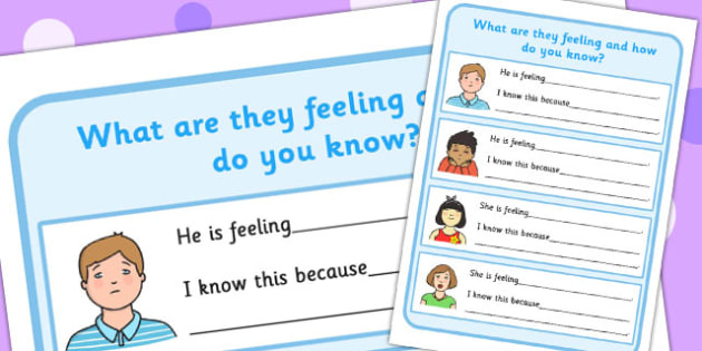 What are They Feeling and How Do You Know? Worksheet (2) - feelings, how