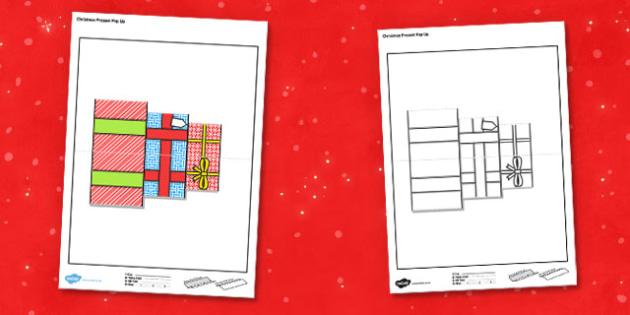 Christmas Present Pop Up Card - christmas present, pop up, card, pop up card, christmas, present