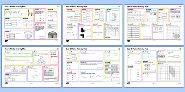 Year 5 Summer 1 Maths Activity Mats - maths skills, year 5, independent, maths mats week 1, term 3