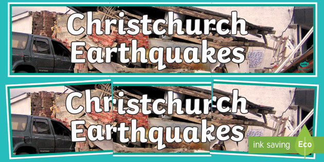 Christchurch Earthquakes Display Banner