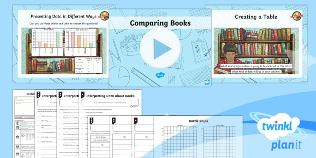 PlanIt Y3 Statistics Lesson Pack Charts and Graphs (6) - Statistics, tally chart , table, data handling, interpreting data, Interpret and present data using