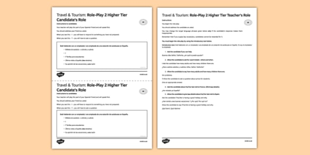Viajes & Turismo 2 Juego de rol Higher Tier - spanish, Estación, autobuses, bus station, travel, holidays, tourism, higher, role-play