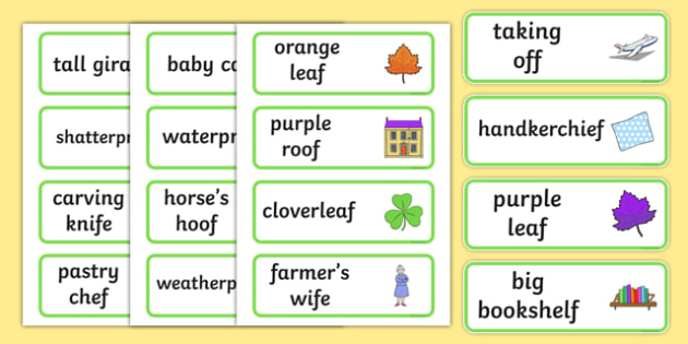 Three Syllable Final 'F' Sound Word Cards - final f, sound, cards