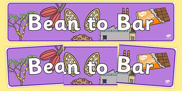 Fairtrade Bean to Bar Display Banner - fairtrade, bean, bar, display, banner