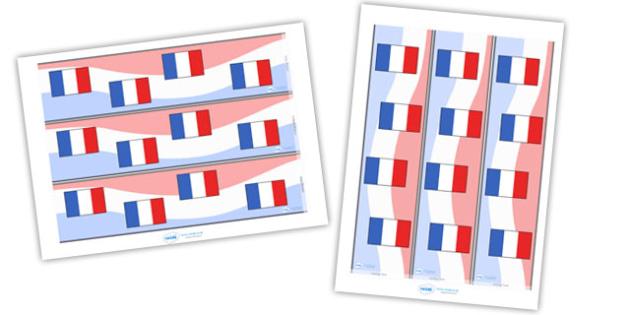 Modern Language Classroom Displays : French display borders france border