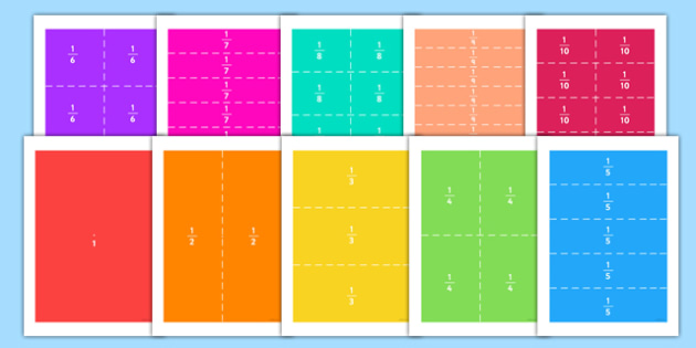 Fraction Rectangle Puzzles - fraction, rectangle, puzzles, activity