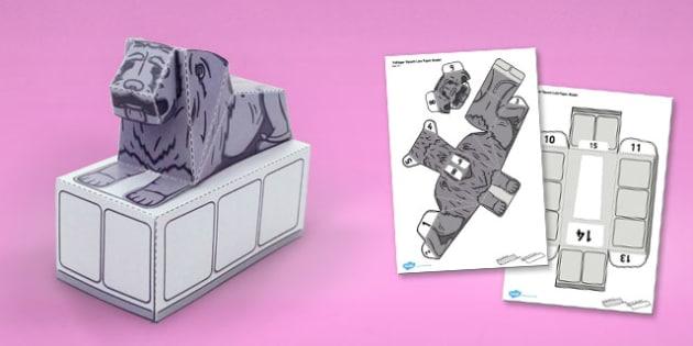 Trafalgar Square Lion Paper Model - trafalgar square, lion, craft, paper