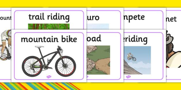 Rio 2016 Olympics Mountain Biking Display Posters - rio 2016, rio olympics, 2016 olympics, mountain biking, display posters