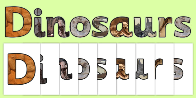Dinosaurs Themed Photo Dinosaur Display Lettering - dinosaurs