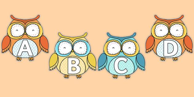 A-Z Alphabet on Superb Owls - a-z, alphabet, letters, superb owls, superb, owls, super bowl