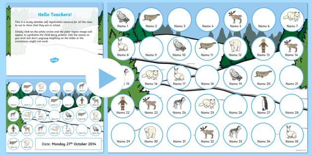 Polar Regions Self Registration PowerPoint - polar, self-reg