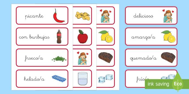 Tarjetas de vocabulario: La comida - comer sano, comida sana, comer saludable, comida saludable, fruta, verdura, dieta saludable, dieta s