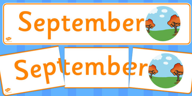 September Display Banner - september, display banner, display, banner, months, year