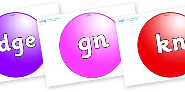 Silent Letters on Spheres - Silent Letters, silent letter, letter blend, consonant, consonants, digraph, trigraph, A-Z letters, literacy, alphabet, letters, alternative sounds