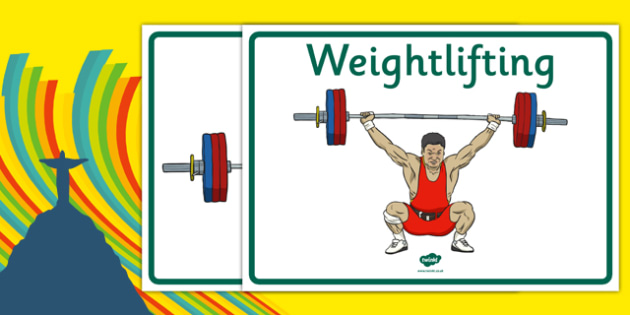 The Olympics Weightlifting Display Posters - weightlifting, lifting, weights, Olympics, Olympic Games, sports, Olympic, London, display, banner, poster, sign, 2012, activity, Olympic torch, medal, Olympic Rings, mascots, flame, compete, events, tenni