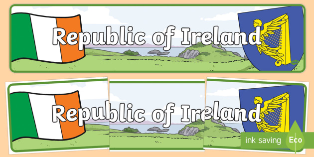Republic of Ireland Display Banner - Republic of Ireland, Olympics, Olympic Games, sports, Olympic, London, 2012, display, banner, sign, poster, activity, Olympic torch, flag, countries, medal, Olympic Rings, mascots, flame, compete, events, tennis,