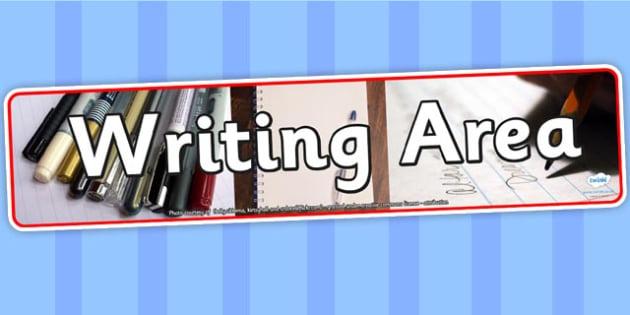 Writing Area Photo Banner - writing area, display, photo banner, banner, display banner, display header, themed banner, photo display, photo header, photos