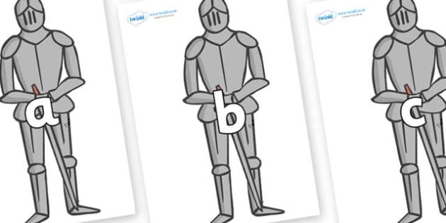 Phase 2 Phonemes on Suits of Armour - Phonemes, phoneme, Phase 2, Phase two, Foundation, Literacy, Letters and Sounds, DfES, display