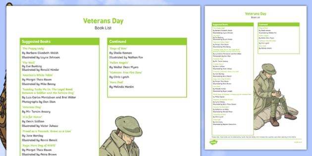 Veterans Day Book List