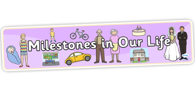 Milestones In Our Life Display Banner - milestones, life, display, banner, display banner, themed header, header, display header, life milestones