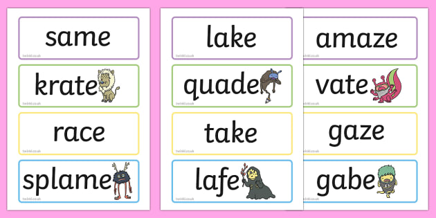 Phase 5 Flashcards Real and Nonsense Words - phase 5, flashcards, real, nonsense words