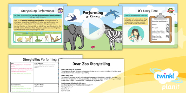 Animals: Dear Zoo: Storytelling 2 Y1 Lesson Pack To Support Teaching on 'Dear Zoo' - Stories with repeating parts, mini topic, safari, whole class guided reading, minibeasts