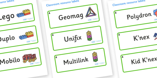 Fir Tree Themed Editable Construction Area Resource Labels - Themed Construction resource labels, Label template, Resource Label, Name Labels, Editable Labels, Drawer Labels, KS1 Labels, Foundation Labels, Foundation Stage Labels