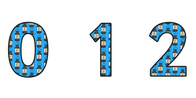 Lamp Display Numbers - lamp numbers, lamp themed numbers, lamp themed display numbers, lamp themed display, florence nightingale, florence numbers