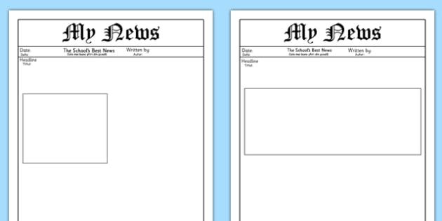 My News Writing Template Romanian Translation - romanian, News, The news, Writing Template, Blank templates, letter, letter writing, letters, editable, editable template, foundation stage, Template, letter design, fine motor skills, activity