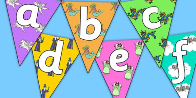 Fantasy Themed Alphabet Bunting - fantasy themed, alphabet bunting, fantasy alphabet bunting, A-Z bunting, fantasy A-Z bunting, alphabet buntin