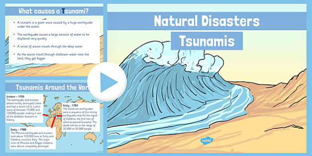 Natural Disasters Tsunamis Information PowerPoint - disaster