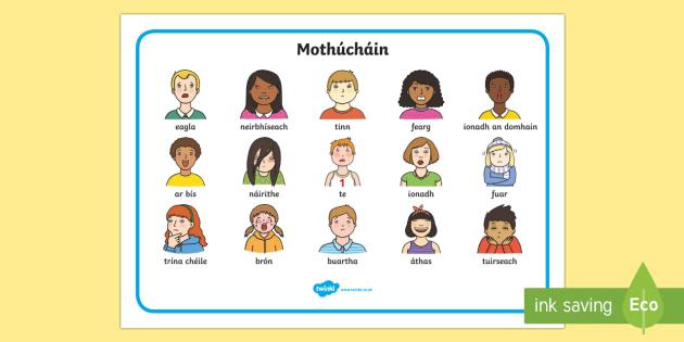 My Feelings Word Mats Gaeilge - Requests - ROI, irish, Gaeilge, mé féin, mothúcháin, feelings, emotions, ,Irish