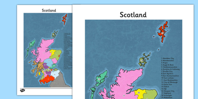 Blank Map of Scotland - geography, Scottish, maps